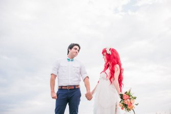 Tracy-Hines-ariel-mermaid-wedding