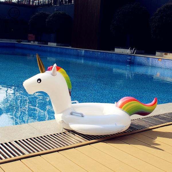 Baby Rainbow Unicorn Pool Float