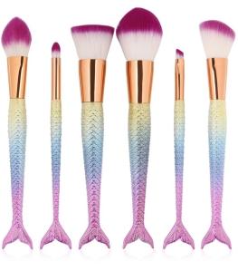 rainbow mermaid makeup brushes