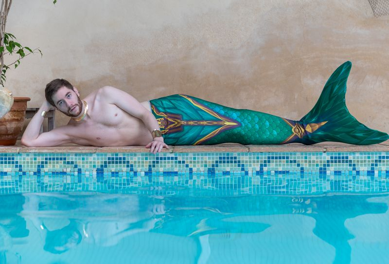 Abyss-Mermaid-Merman-Arion-fabric-tail