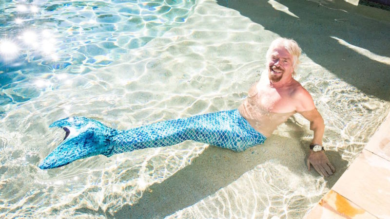 DreamBlue mermaid tail Richard Branson