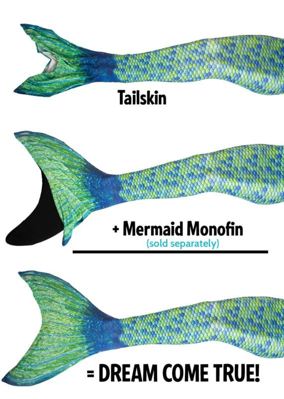 tailskin and monofin