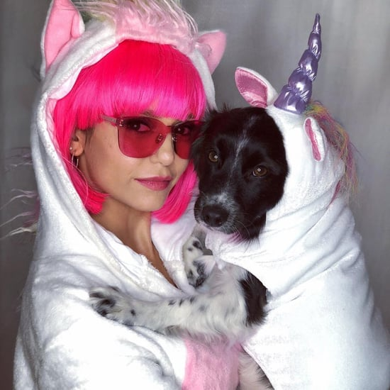 Nina-Dobrev-Dog-Unicorn-Halloween